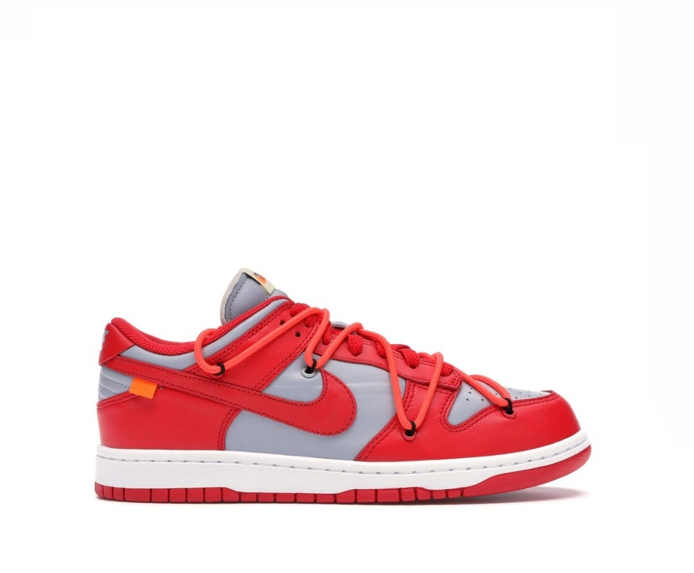 Image of NIKE DUNK LOW OFF-WHITE UNIVERSITY RED CT0856-600