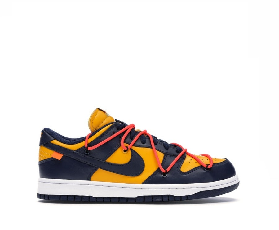 Image of NIKE DUNK LOW OFF-WHITE UNIVERSITY GOLD CT0856-700