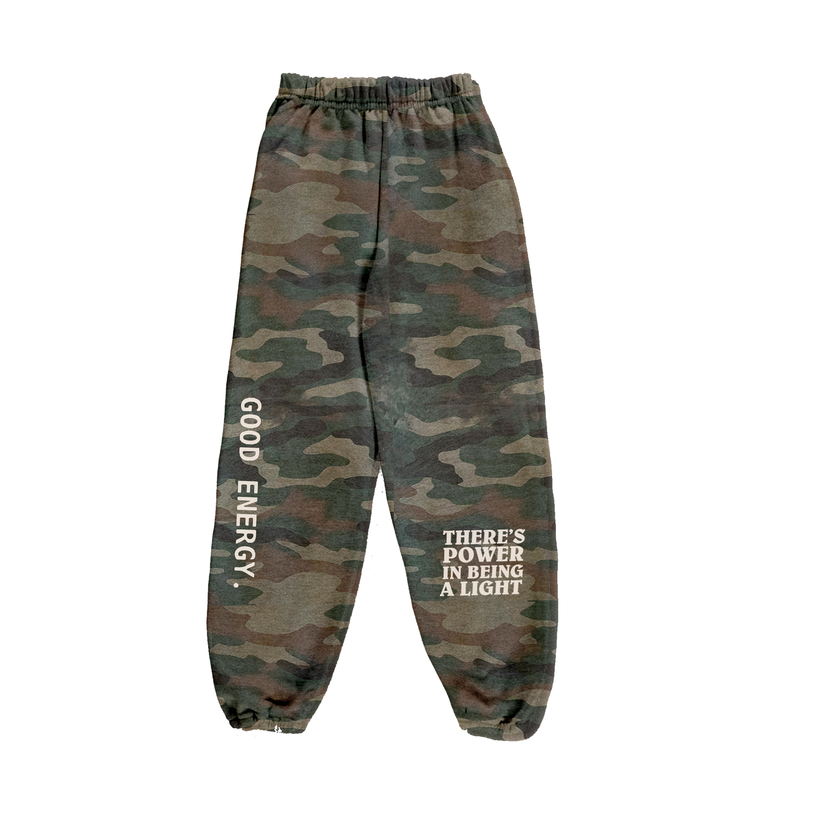 Image of Power In Light Camo Sweatpants