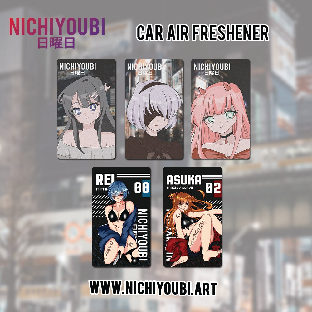 Image of [Car Air Freshener] Retro Style - Asuka L - Rei Ayanami