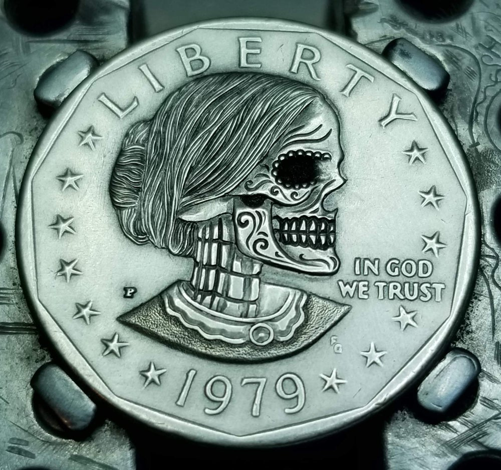 Image of Susan B. Anthony Sugar Skull