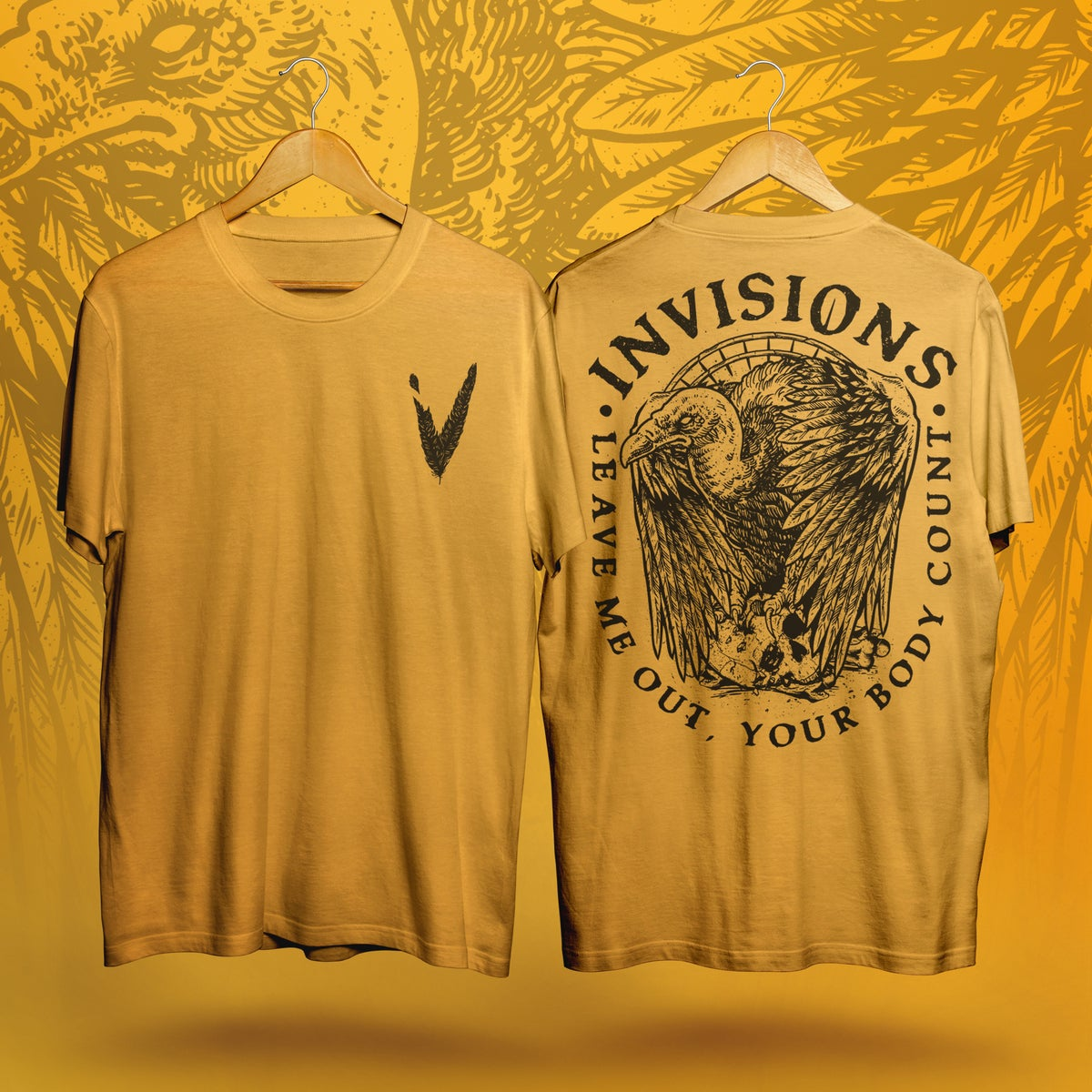 Image of Vulture - T-Shirt (Yellow)