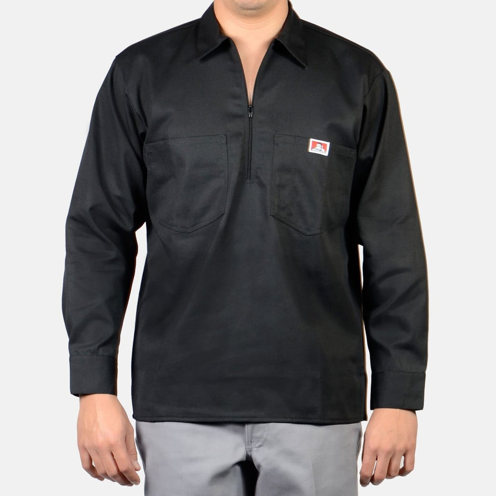 Image of Ben Davis Long Sleeve Solid, 1/2 Zip