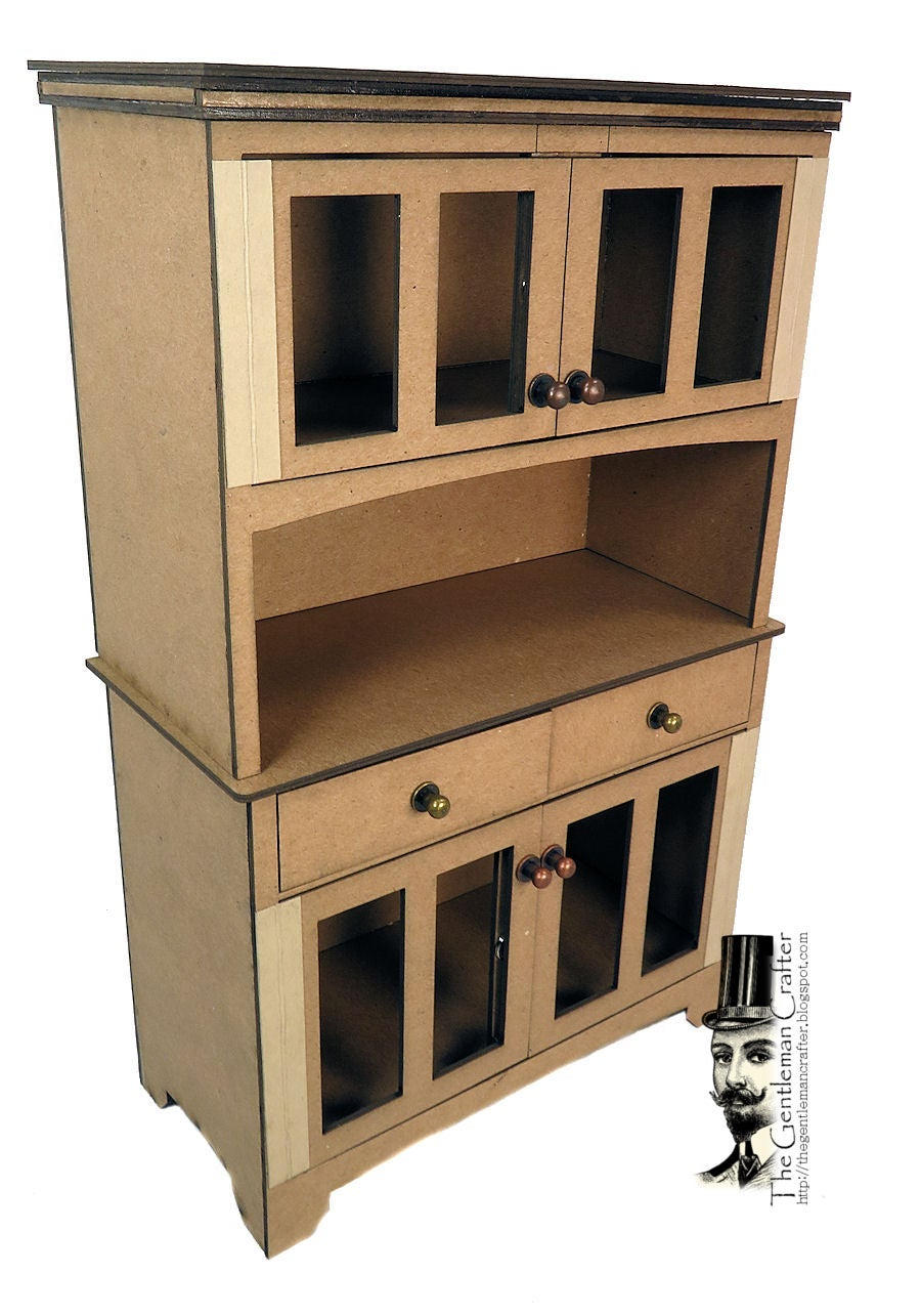 Image of MORE ADDED!  Kitchen Hutch with Paper -Paper Not Cut