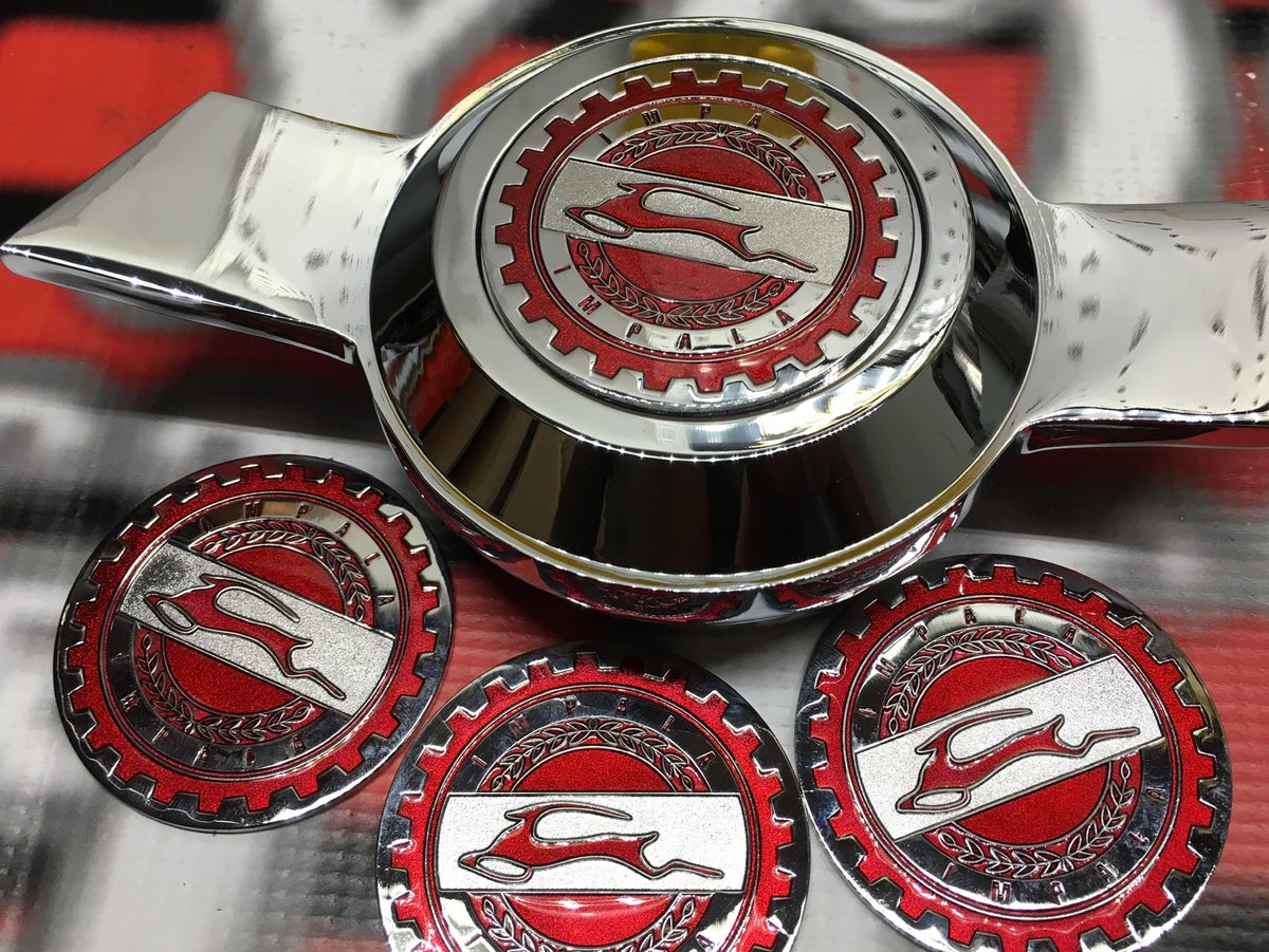 Image of Candy red impala chips set (4)
