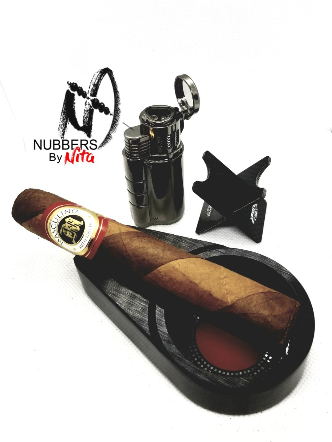 Image of Sophisticated personal ashtray and cigar stand