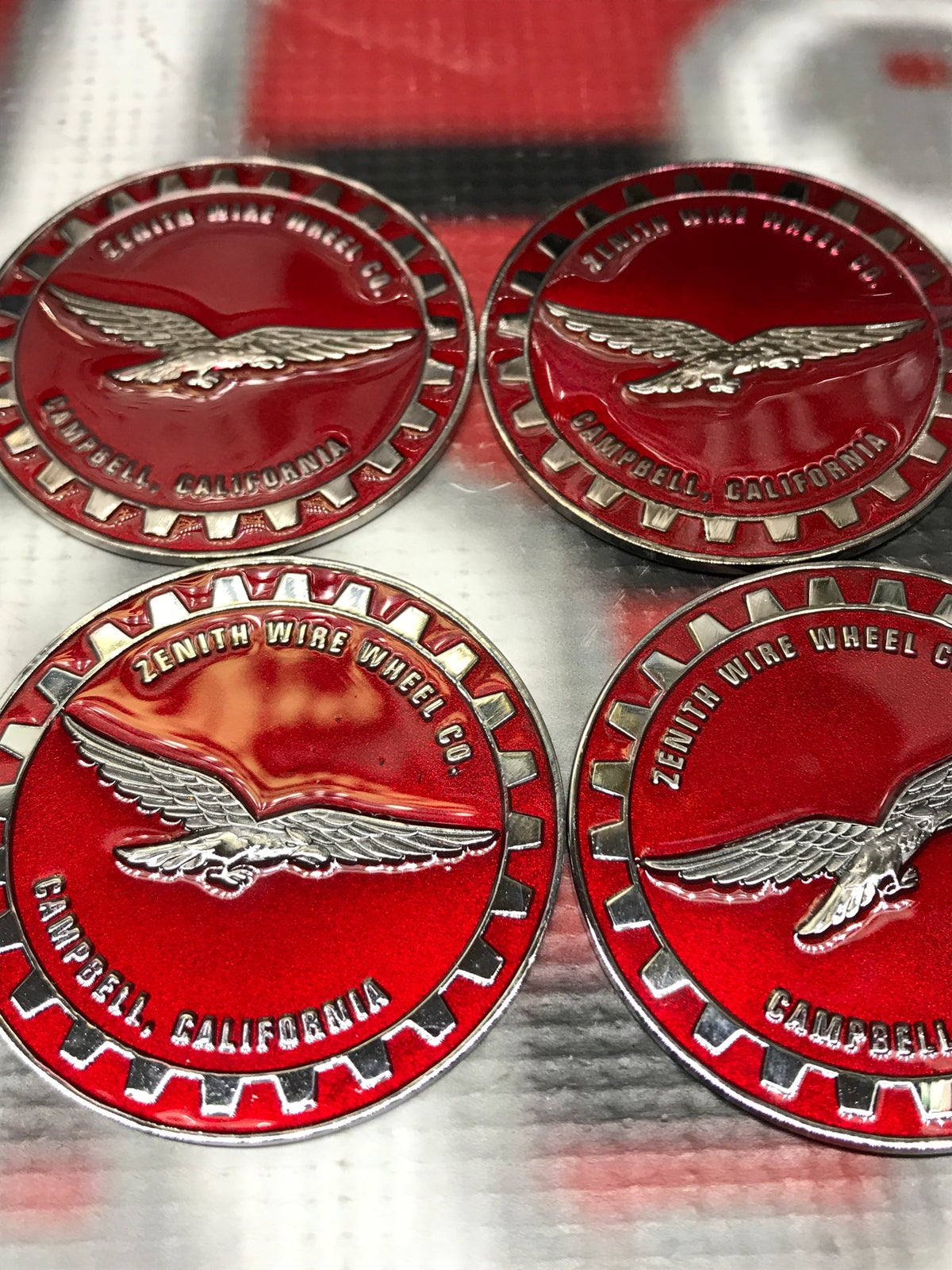 Image of (4) Candy red zenith chips set