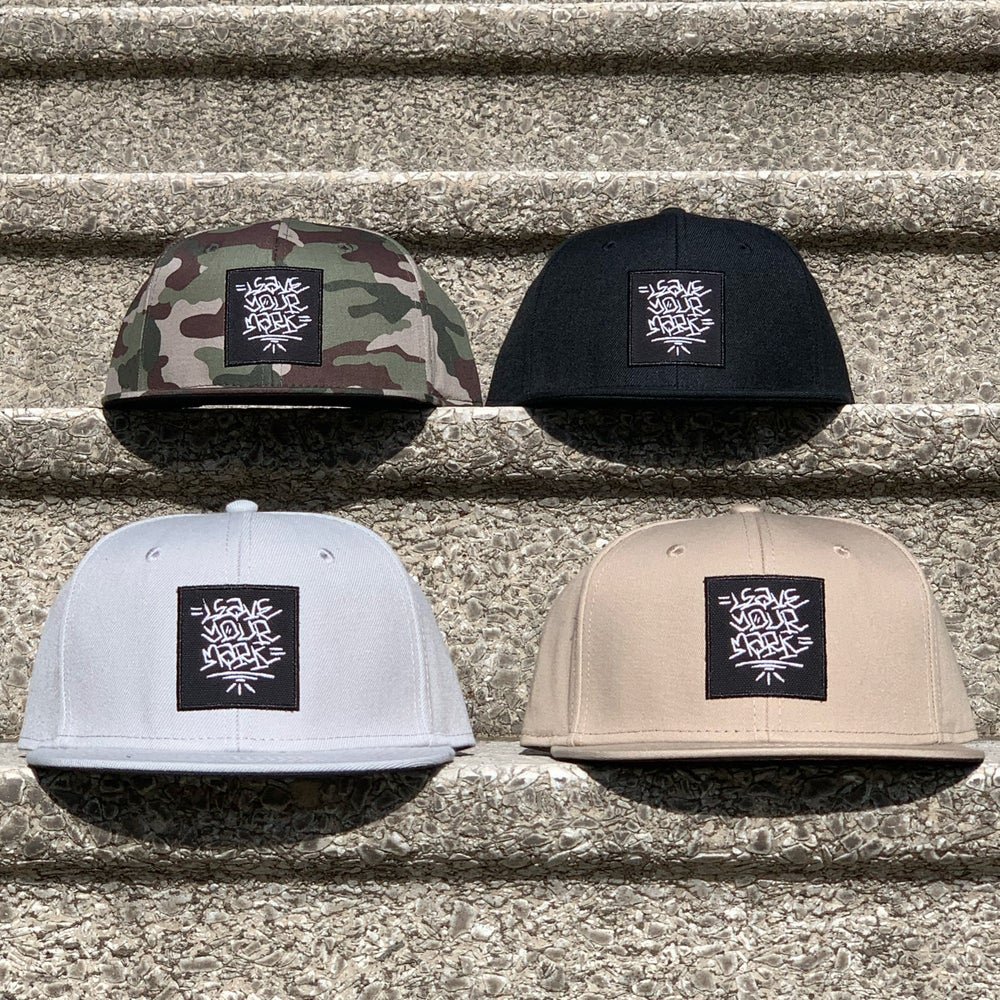 Leave Your Mark Shop Snap Back Hand Style Hat