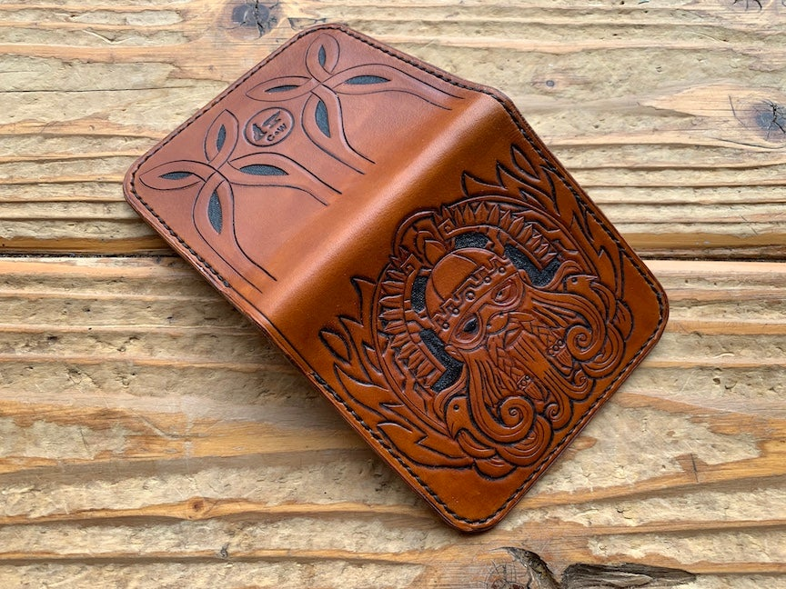 "Image of ""Odin's Beard"" Custom Leather Bi-Fold Wallet"