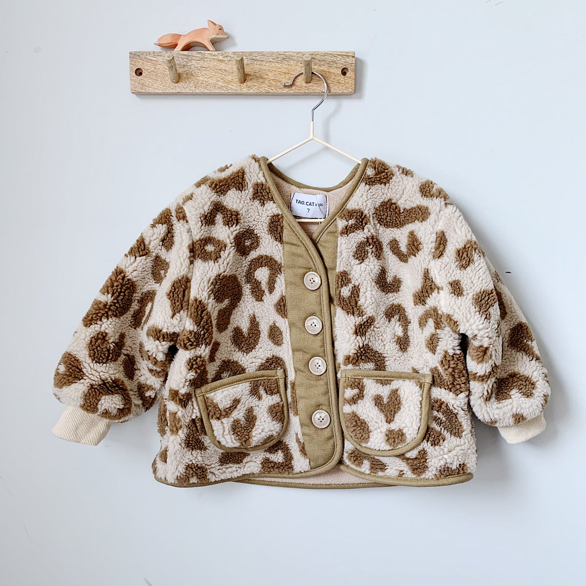 Image of THE MAE JACKET - KHAKI LEOPARD