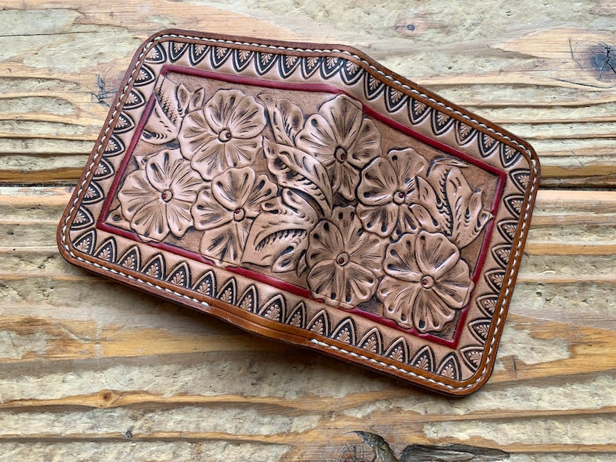 Image of Custom Traditional Western Style Leather Bi-Fold Wallet