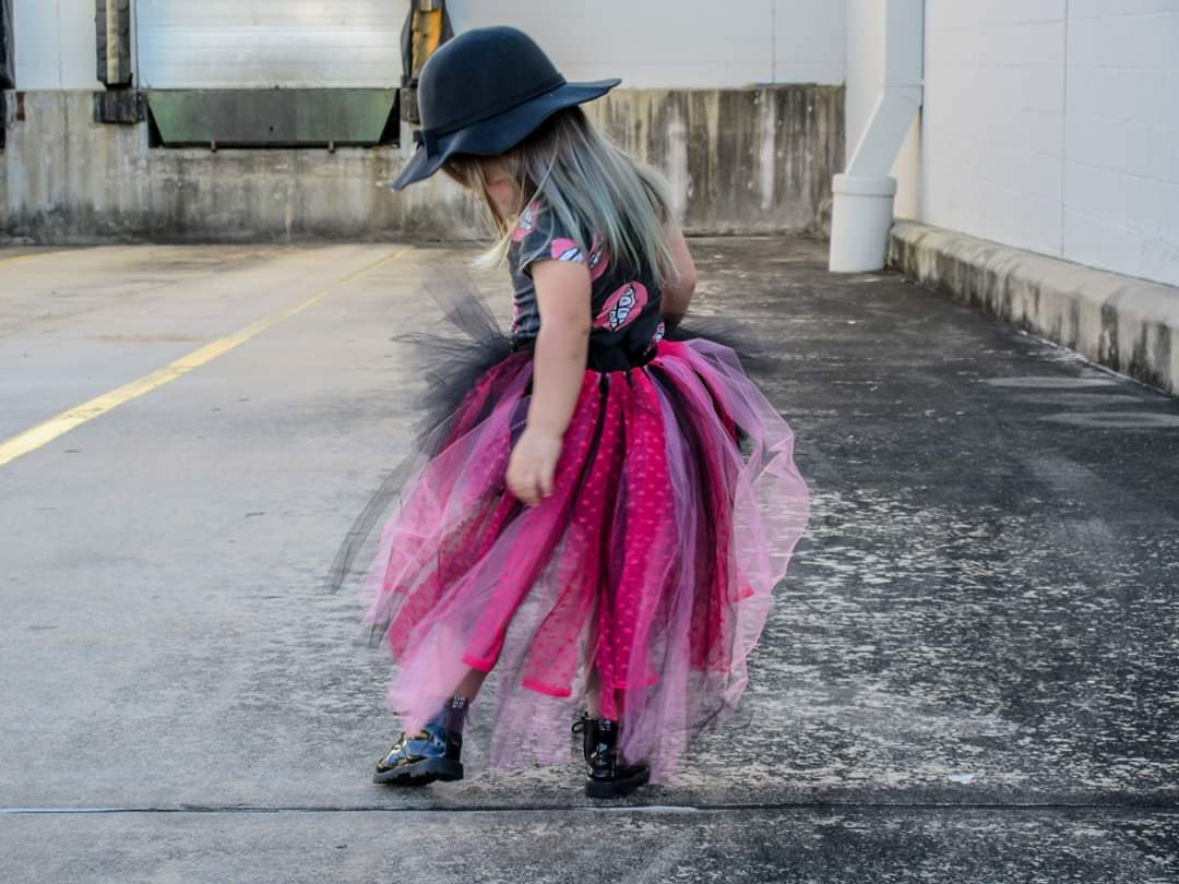 Image of Punk Love Short Tutu with Cape