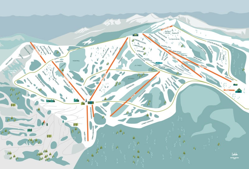 Schweitzer Mountain Resort Illustrated Trail Map