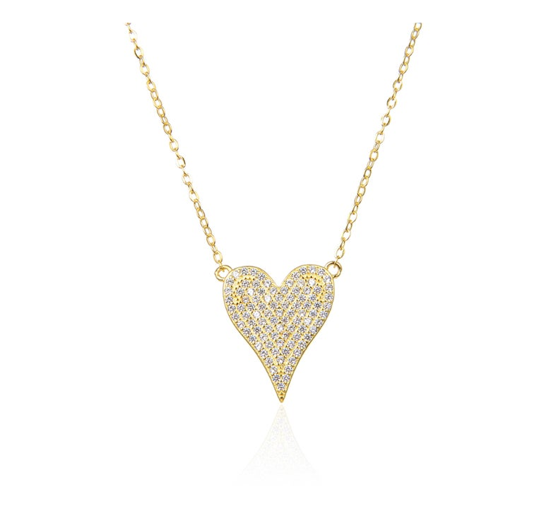 Image of Pointed Heart necklace