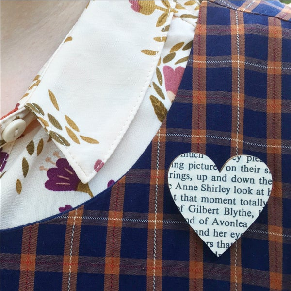 Image of Bookish Heart Brooches