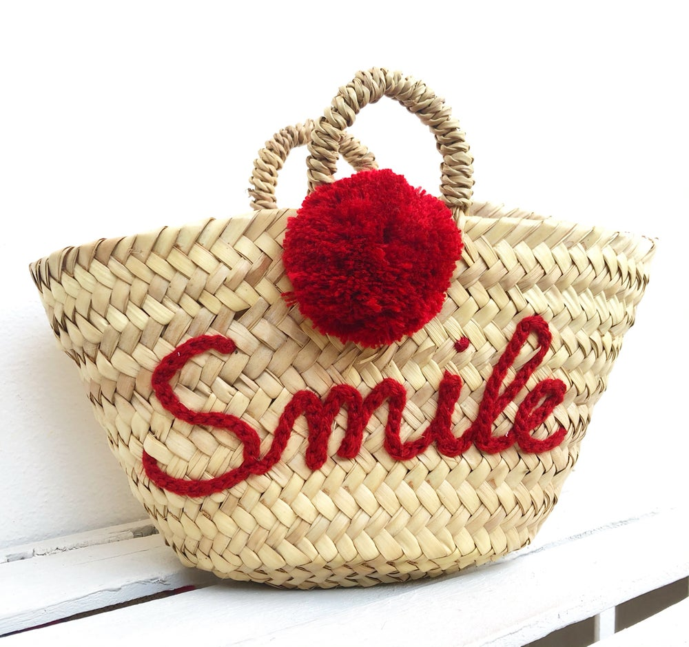 Image of MINI BEACH BAG PAGLIA CON RICAMO