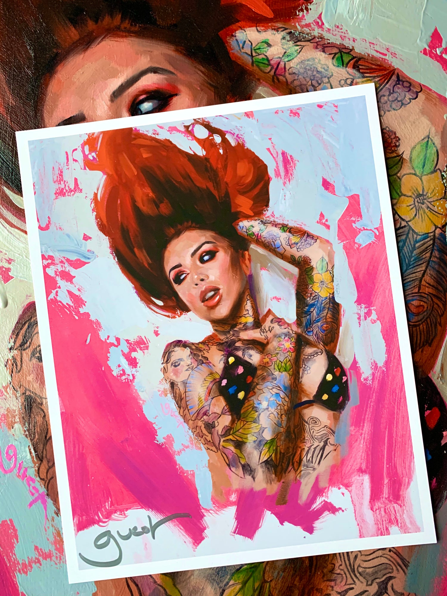 Image of 'RED HAIR' FREE PRINT 24 Hour Timed Release
