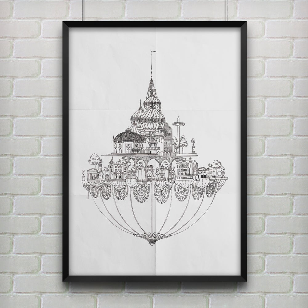 Floating  City Illustrations (4 options)
