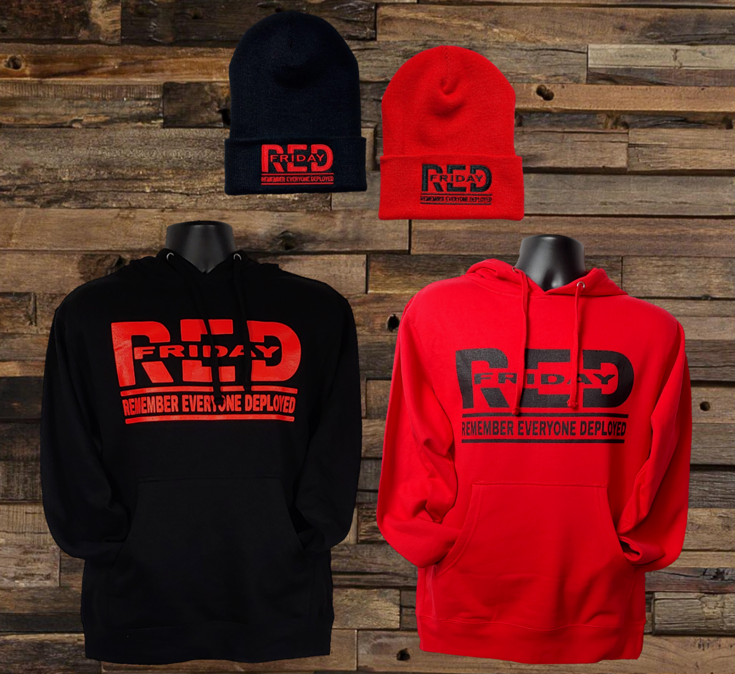 R.E.D. Friday Command Hoodie & Beanie Set