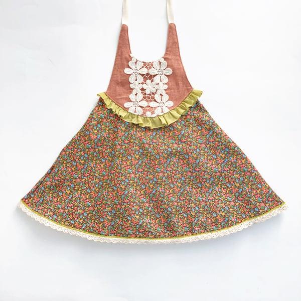 Image of Vintage Garden Round Bib Dress