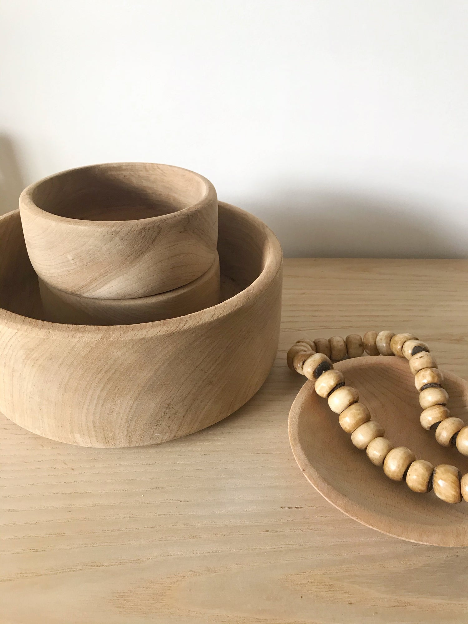 Image of Large Raw Wooden Bowl #122