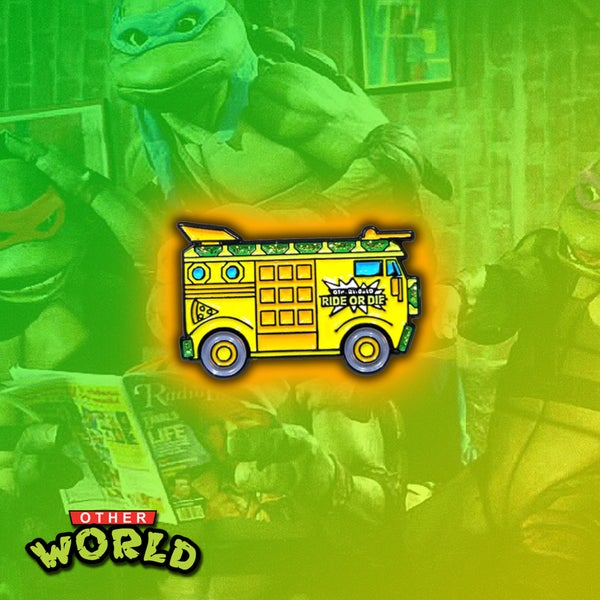 Image of TMNT Party Wagon lapel pin