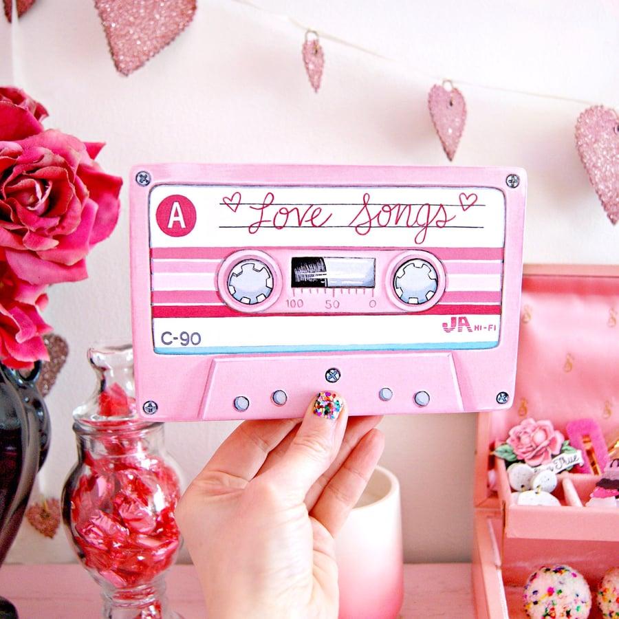 Image of Love Songs mixtape plaque