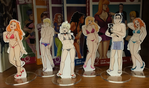 Image of Acrylic standees set