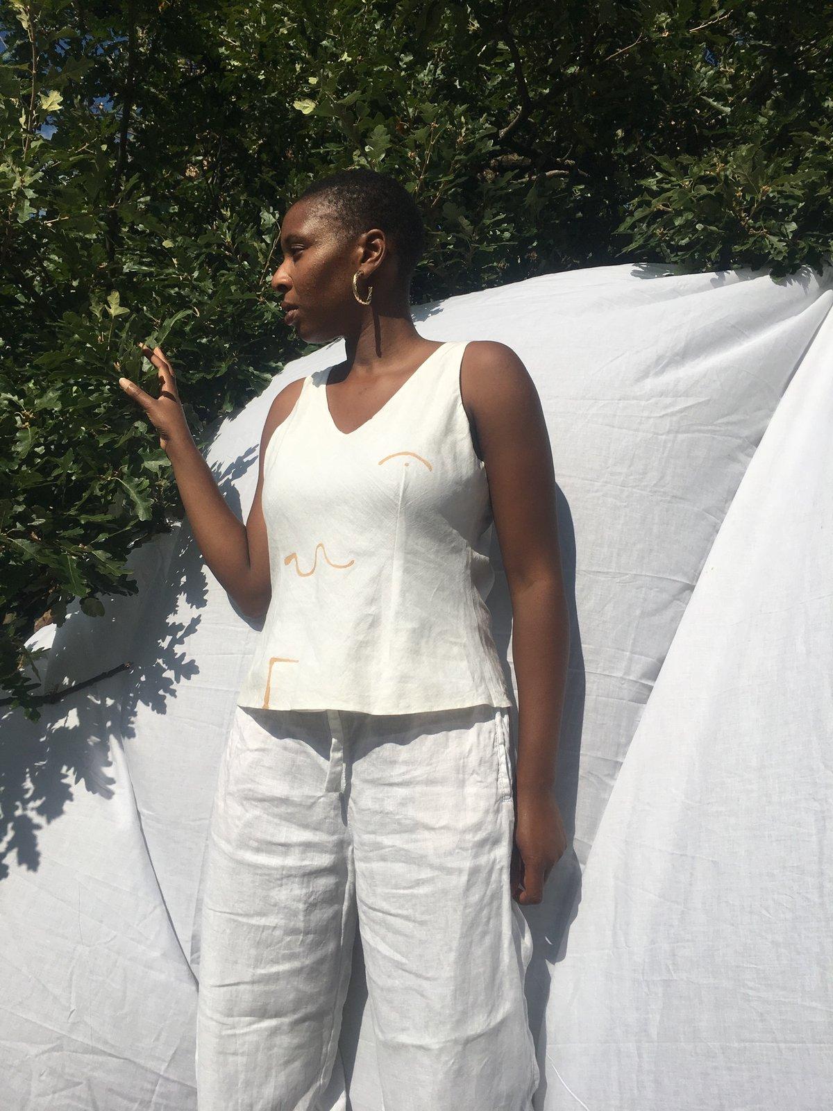 Image of minimal lines vest