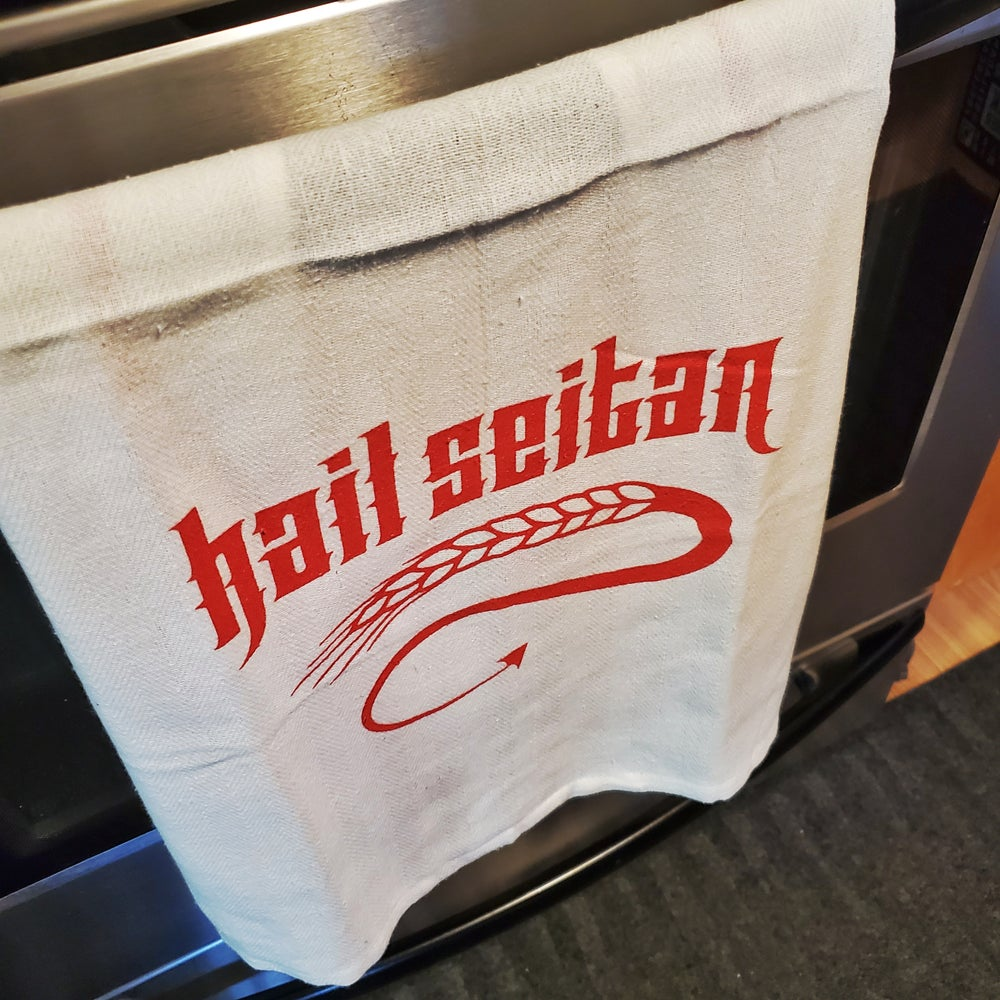 Image of Hail Seitan Tea Towel