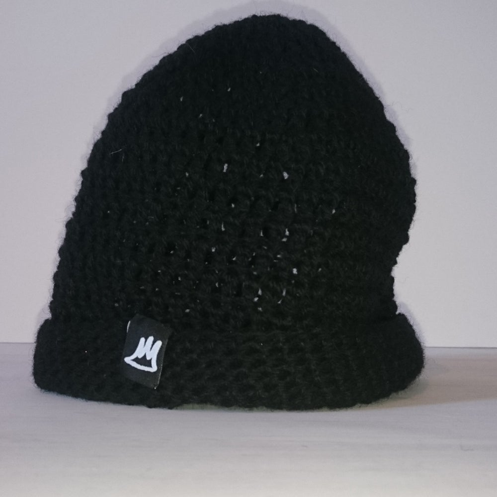 Image of Jet Black Wool Beanie