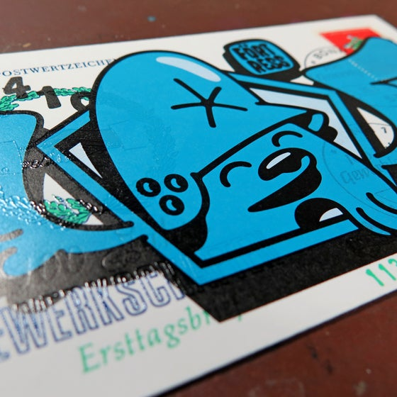 Image of FDC Wingman Blue / print