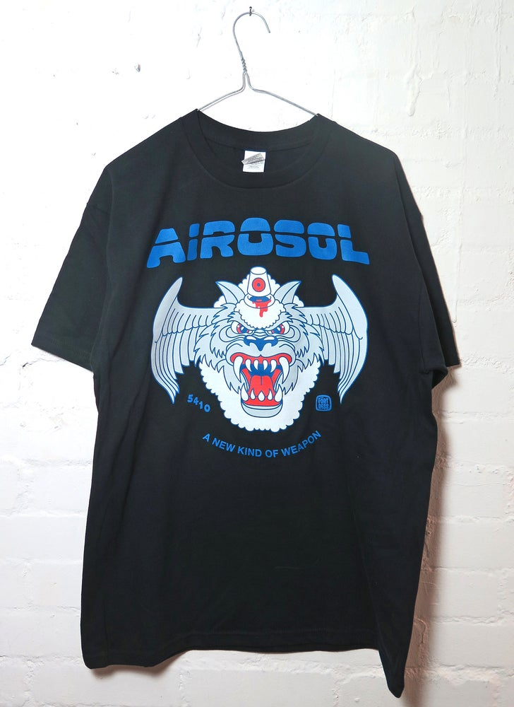 Image of AIROSOL Black / t-shirt & patch set