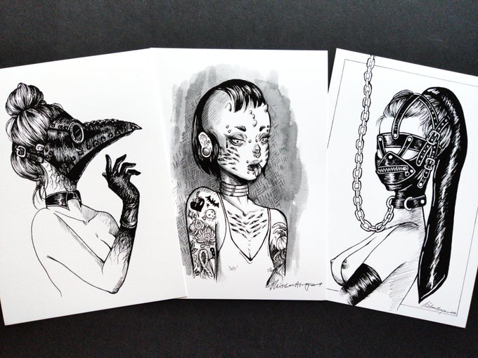 Image of Kinktober Mini Print Set