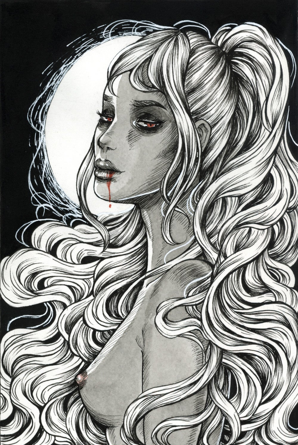"Image of ""She's Night"" Giclee Print"