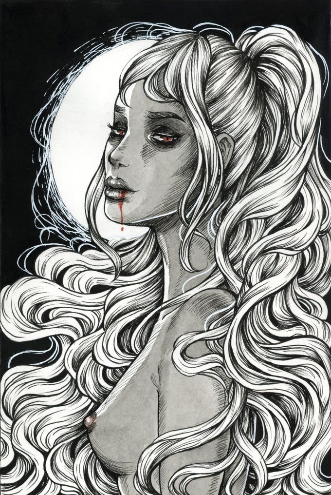 "Image of ""She's Night"" Giclee Print"