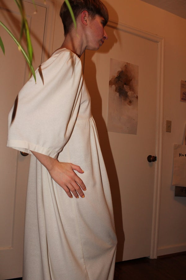 Image of Sandro Dress - White Raw Silk