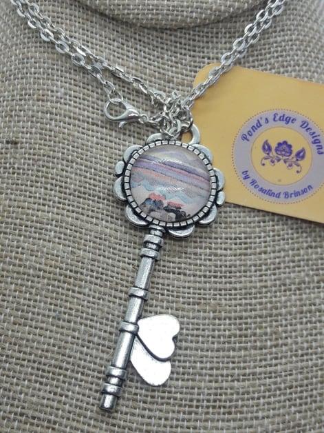 Image of Sunset Heart Key Necklace