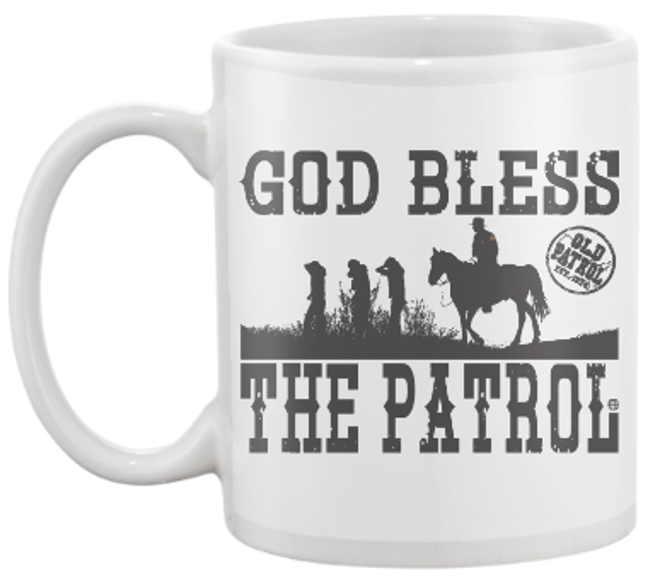 Image of GOD BLESS THE PATROL ~ 15 OZ. COFFEE CUP