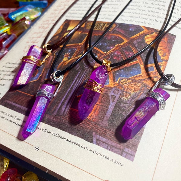 Image of Jedi Rogue Kyber Pendant in Purple