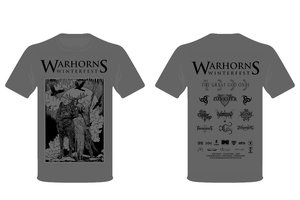 Image of Warhorns Winterfest 2020 Special Edition Grey T Shirt