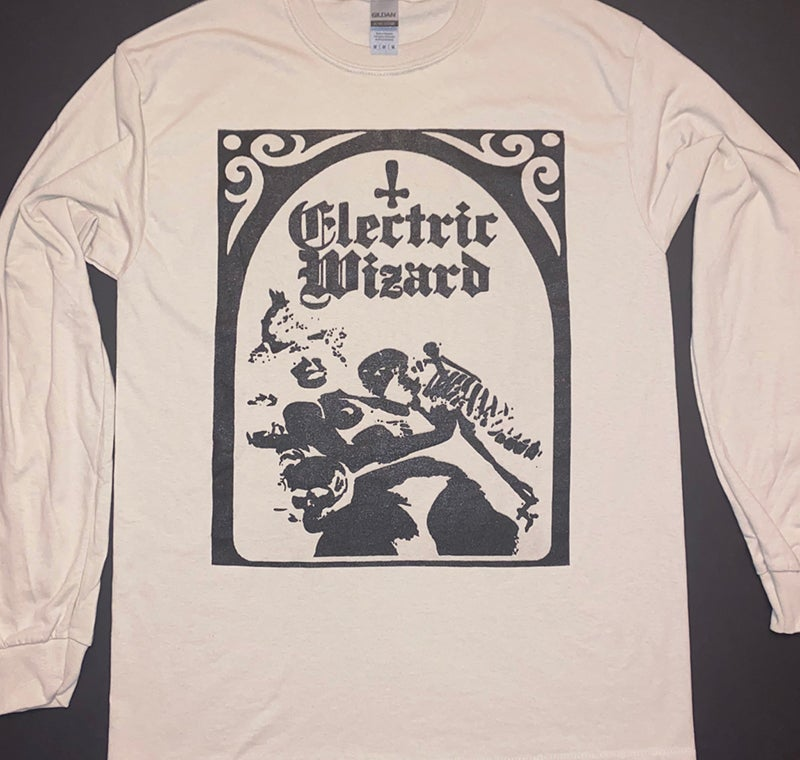 Image of Electric Wizard - Tan / Sand - Long Sleeve T shirt