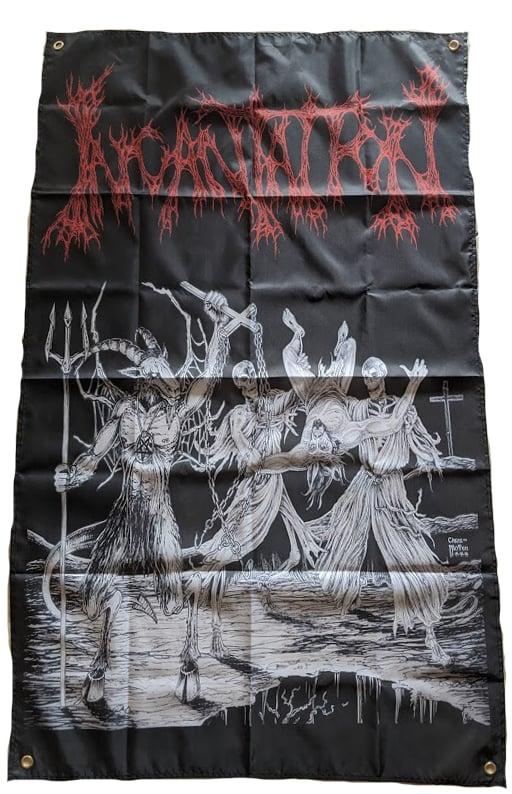 "Image of Incantation "" Blasphemous Cremation ""  Banner / Tapestry / Flag"
