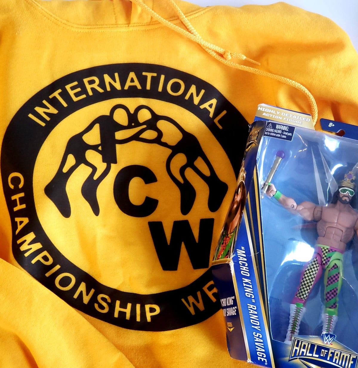 Image of ICW World Heavyweight Gold Hoodie