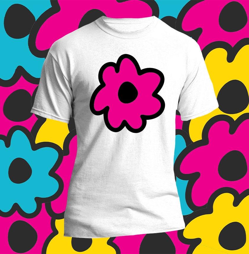 Image of magenta flower shirt