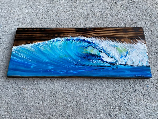 Image of Blue flame wave