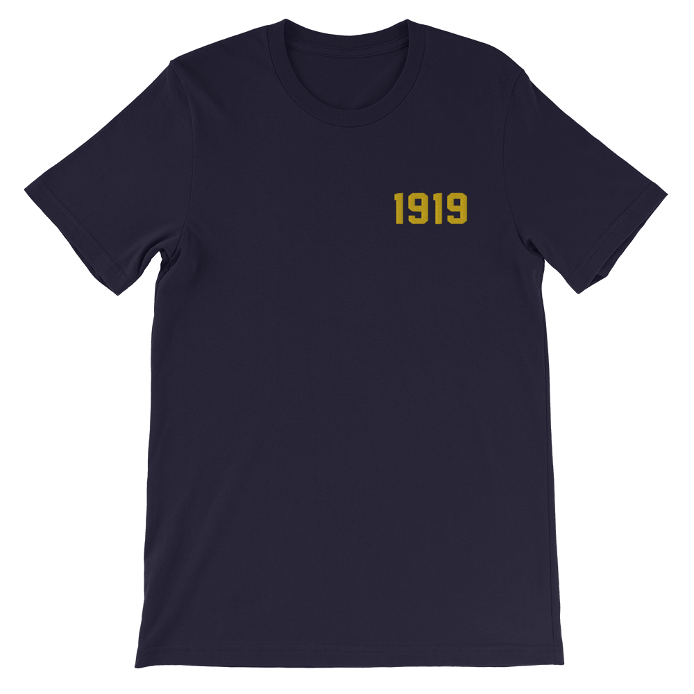 Image of 1919 Embroidered T Navy