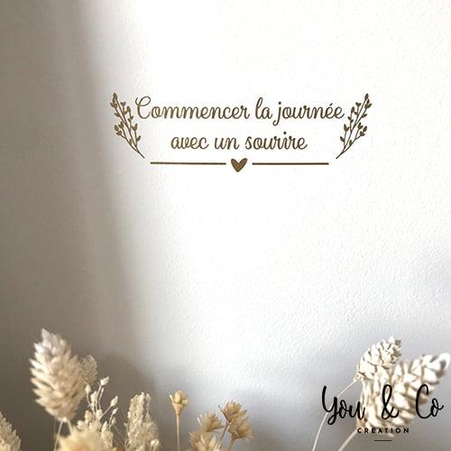 """Image of Sticker """"Commencer la journée avec un sourire"""""""