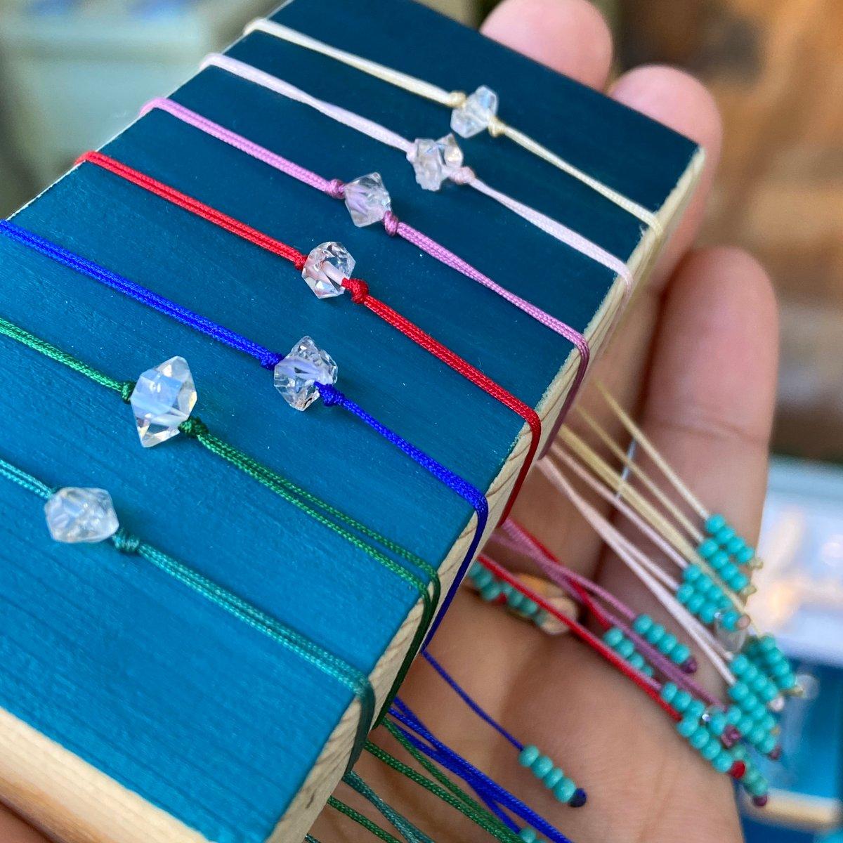 Image of Herkimer diamond bracelet