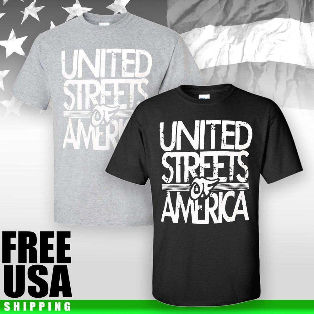 Image of UNITED STREETS OF AMERICA Graphic Tee Shirt